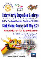 Entry for the 2020 Charity Dragon Boat Challenge opens shortly!