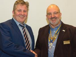 Rodney Reed welcomes James Corrigan, the Seaford Town Clerk