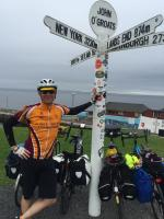 Club member Ed Spurway cycles Lands' End to John O'Groats