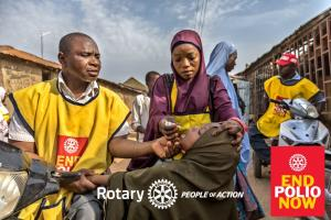 Rotary helping to Eradicate Polio