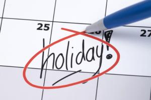 October Holidays - no meeting