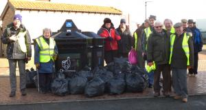 The club joined forces with the Civic Society for a litter pick,Clean for the Queen