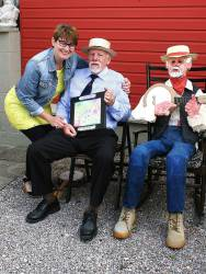 National Rotary President visits 'The Two Ronnies'