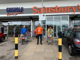 Rotary and The Reverend conduct Sainsbury's Supermarket Sweep