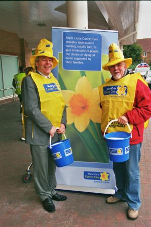Collecting for Marie Curie Feb/March 2008