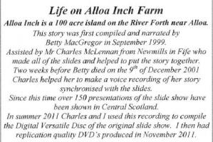 Film – Growing up on Alloa Inch Farm