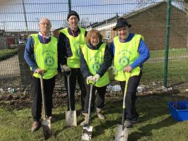 Rotarians at work at Springwell School