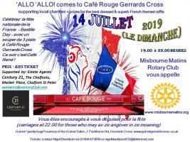 'ALLO 'ALLO!  comes to Café Rouge - Gerrards Cross
