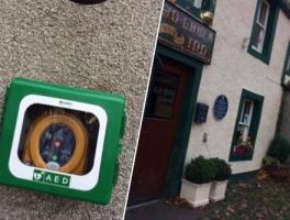 Rotary helps installation of defibrillator