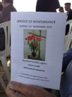 Benajarafe Remembrance Day Service