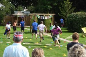 Fun Olympic Games in the Club President's Garden