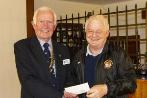 Donation given to the Axminster Football Club