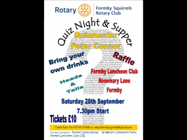 Quiz Night and Supper 28th September