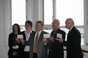 Cheque presentation (money raised from Dock Tower event)