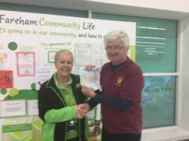 Presentation of cheque to ASDA and reply