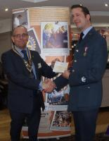 The Rotary Club of Rayleigh Mill contributes to the purchase of the new Minibus for Rayleigh Air Training Corps