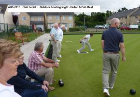 Aug 2017 Bowls Evening at Girton - Partners & Guests with Pub Meal
