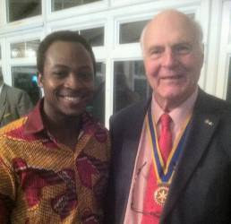 North Walsham Rotarians welcome Ghanaian Rotaractor