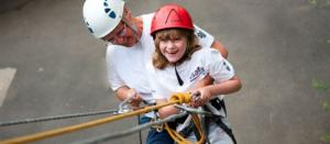 Abseiling at the Calvert Trust, Exmoor