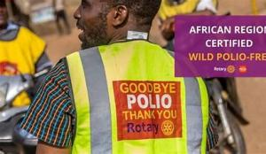 Rotary has contributed to Africa being declared wild polio-free