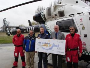 Bexhill Rotary Club supports the Kent/Sussex Air Ambulance