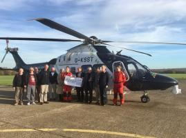 Visit to the Kent, Surrey and Sussex Air Ambulance (KSSAA)