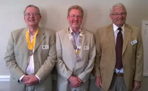 Tony Scaife, Barry Mills and Bill Braker confidently face the future