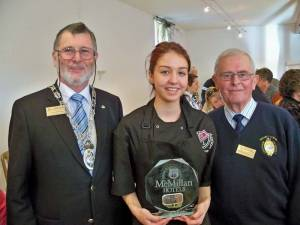 Emma Sturrock represents Longniddry & District in Rotary Young Chef National Final