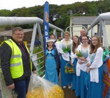 Duck race launch by the Herring Queen
