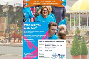 Memory Walk for Alzheimers @ The British Ironworks