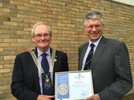 Rotarian Andy, recognised with Community Award