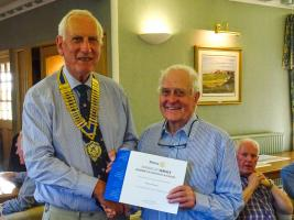 Award to Club Member  Andy Howard