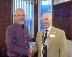 Andy Pringle joins Dunbar Rotary Club