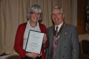 Community Award to Anne Wallace 2011