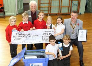Buxton Infants School Raise £250 for Aquabox