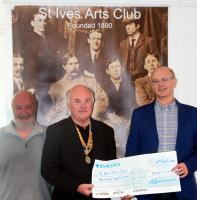 Rotary Club of St. Ives Supports Local Art Societies