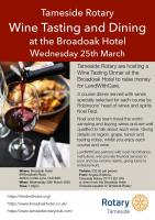 Wine Tasting and Dining @ Broadoak Hotel - Postponed