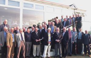 Club attendance at an April 2018 meeting outside The Royal North Devon Golf Club.