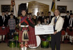 2013 Presentation to Banchory Pipe Band