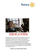 End Polio Now Breathe Tuesday 29 October @ 19.15 Cathedral Hall