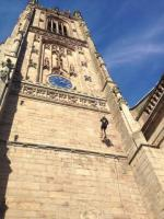 Sue abseils for charity