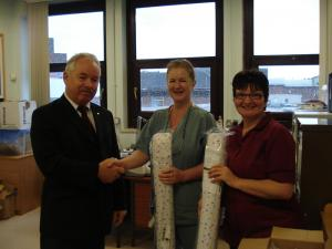Donation to Special Baby Care Unit Salford Royal