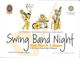 Clitheroe Royal Grammar School Swing Band at St Mary's Parish Hall - Saturday 2nd March 2013