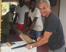 Our Past President is helping to build a Community Centre in The Gambia