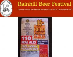 Rainhill Beer Festival 2017 - Rainhill Recreation Club