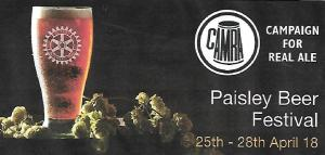 Paisley Beer Festival - 16/04/18