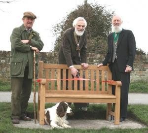 Stonehouse Rotary Club present a new seat for the residents of Frampton on Severn