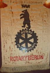 Ryde Rotary Clubs 1937 Berlin Banner