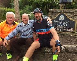 President Mark Evans gets on his bike for charity
