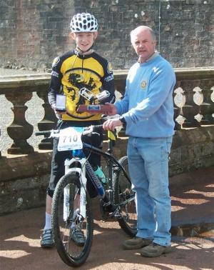 Rotary Sponsors Scottish National Cross Country  2009 Mountain Bike Trophy